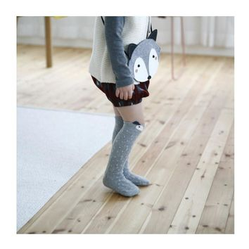 Fancy Designer Leg Warmers Kawaii Cartoon Fox Leg Warmers Brand Baby Boys Girls leg Protectors Children Knee Pads Leg Warmers