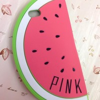 Hot Sale New Cute Watermelon Shape Design Soft Silicone Cases For iPhone 6 6plus
