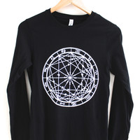 Zodiac Wheel Women's Graphic Long Sleeve Tee