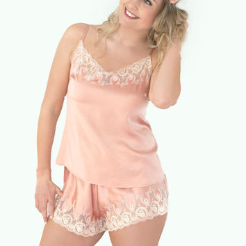 Rose Blush Silk Shorts