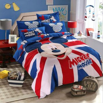 Personality Fashion Cartoon Katie Cat Doraemon 4pcs/3pcs Duvet Cover Sets Soft Polyester Bed Linen Flat Bed Sheet Set Pillowcase