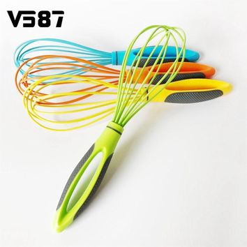 Eggs Stiring Beaters Kitchen Baking Tools Hand Mixer Cooking New Style Foamer Wisk Cook Blender Silicone + PP Comfortable Handle