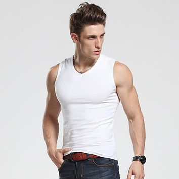 Men Tank Tops Fashion Cotton Undershirts For Male Bodybuilding Tank Tops O-Neck Sleeveless Casual Summer Vest