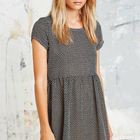 Urban Renewal Vintage Remnants Printed Babydoll Dress in Black - Urban Outfitters