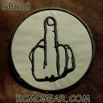 REFLECTIVE FINGER Small Badge Patch for Vest jacket SB618