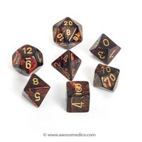Scarab Blue Blood 7-Dice Set | Awesome Dice