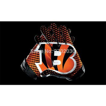 Black Gloves Design Cincinnati Bengals Logo Sport Flag Super Bowl Champions Football Team Fan World Series 90 X 150 Cm Banner