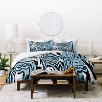 Caleb Troy Placid Blue Safari Duvet Cover