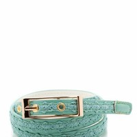 crochet inset skinny belt $6.90 in MINT - Belts | GoJane.com