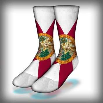 Florida Flag Crew Socks Novelty Streetwear