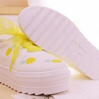 PINEAPPLE SHOES (WHITE) from Storeunic