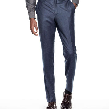 Sutton Suit Pant in Italian Petrol Blue Heather Wool Flannel