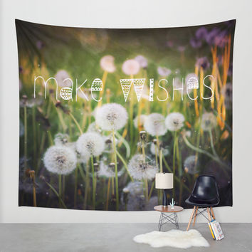 Make Wishes II Wall Tapestry by Jenndalyn