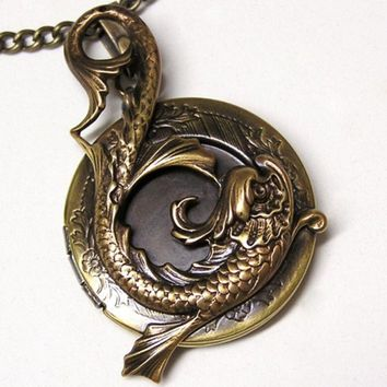 Steampunk Water Dragon Locket