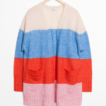 Mohair & Wool Oversized Cardigan
