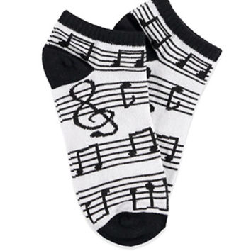 Music Note Ankle Socks