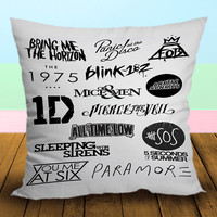 All Logo One Direction 5 Seconds Of Summer - Pillow Case, Square and Rectangle One Side/Two Side.