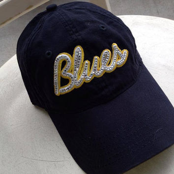 St. Louis Blues Bling hat! Custom made...you can't get these in the stores!