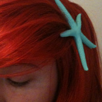Ariel the little mermaid starfish hair clip