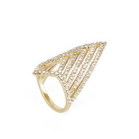 BCBG Pave Chevron Ring