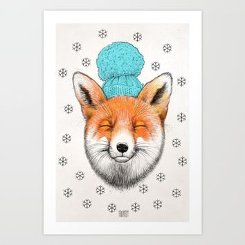 winter fox Art Print by NikKor