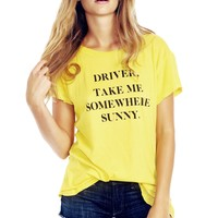 Take Me Somewhere Sunny Hippie Crewneck Tee