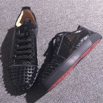 Christian Louboutin CL Low Style #2058 Sneakers Fashion Shoes Best Deal Online