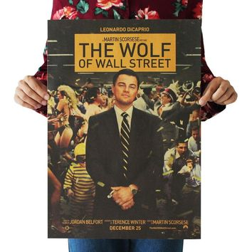 The Wolf of Wall Street / DiCaprio /classic movie film poster/kraft paper/bar poster/Retro Poster/decorative painting 51x35.5cm