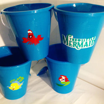 Little Mermaid ,kids Christmas party favor,buckets,party favor, sand bucket, Ariel,Flounder,sebastion, Mermaid, Disney, Disney princess, toy