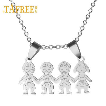 new stylish Kid Stainless Steel Mama Family Necklace