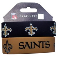 New Orleans Saints Wrist Band (Set of 2) NFL