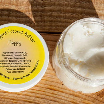 Vegan 100% Pure Essential Oil Whipped Coconut Butter - Hpapy