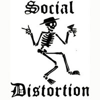 Social Distortion Peel & Rub Sticker