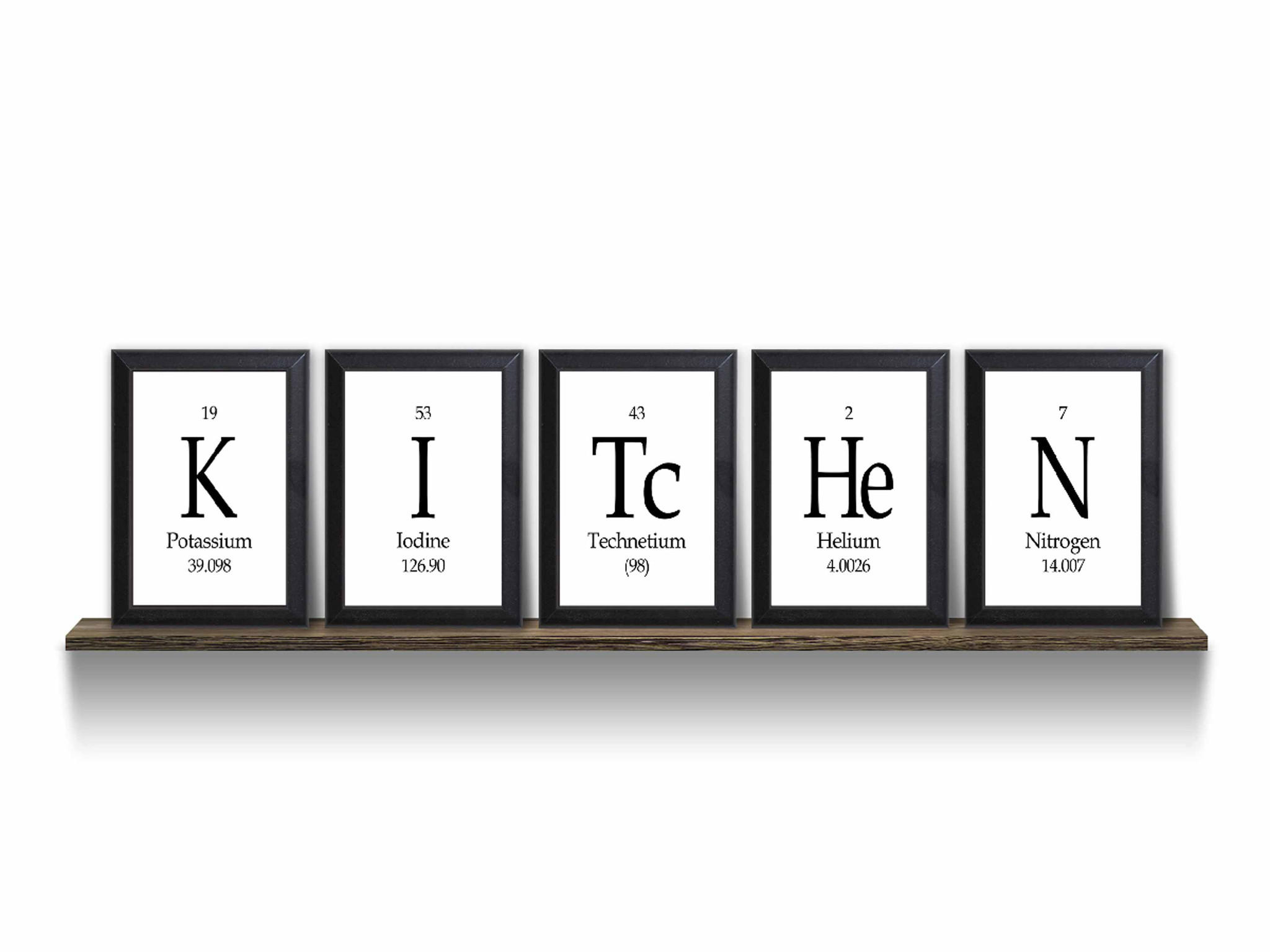 Kitchen Periodic Table Framed 5 Piece From Neurons Not