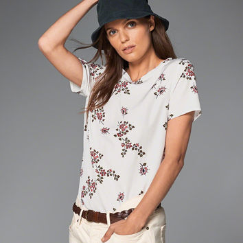 Womens Printed Short Sleeve Top | Womens Tops | Abercrombie.com