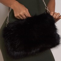 Friend Or Faux Faux Fur Bag Black - New In | LASULA