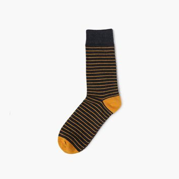 Yellow Stripes Sock
