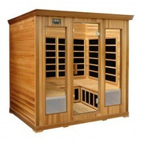 Crystal Sauna 4-Person Luxury Cedar Infrared Sauna - LC400 - Saunas - Bathroom Fixtures - Bed & Bath