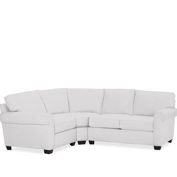 Buchanan Upholstered Curved 3-Piece Sectional with Wedge