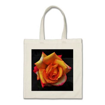 Brilliant Multi Colored Rose Tote Bag