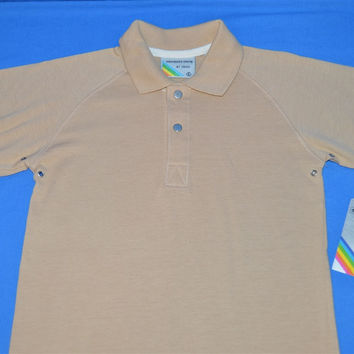 80s Boys Members Only Beige Polo Shirt Kids 6