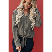 Wild Girl Long Sleeve Top (Olive)