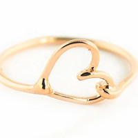 Wanderlust + Co Heart-Knot Ring