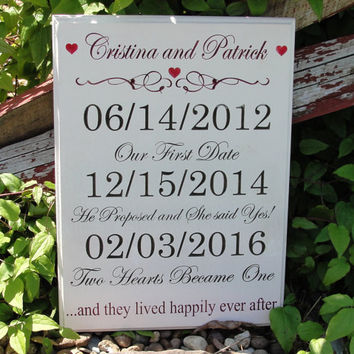 Wedding Sign, Important date sign, Engagement Sign, Family Sign, Home Sign, Established Sign, Personalized Sign, Carved Sign,