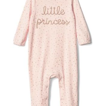 Starry little princess footed one-piece | Gap