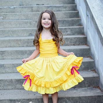 Belle - Everyday Princess Dress - Character Inspired Dress - 6/12mo through 8