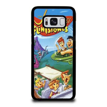 JETSONS MEET FLINTSTONES Samsung Galaxy S3 S4 S5 S6 S7 Edge S8 Plus, Note 3 4 5 8 Case Cover