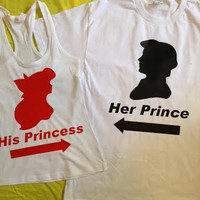 Disney The Little Mermaid Eric and Ariel Couples Shirts