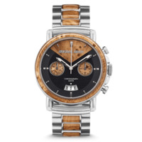 The Marc by Original Grain Men's Watch 44mm Brushed Silver Stainless Steel Band Alterra Chrono Line
