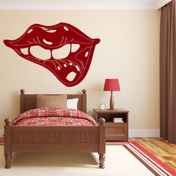 Large Wall Vinyl Decal Sexy Lips Decor For Bedroom and Ladies' room Unique Gift z4568